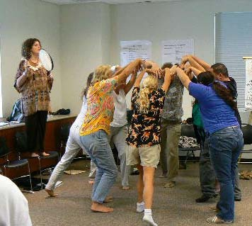 Teaching Artists at a Classroom Management workshop