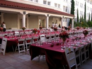 photo of the Second Floor Courtyard set up for a reception