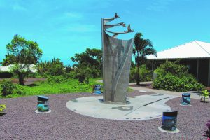 Mixed media sculpture at Innovations Public Charter School