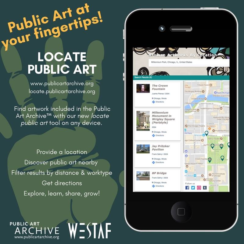 Promotional image and text for the Public Art Locator