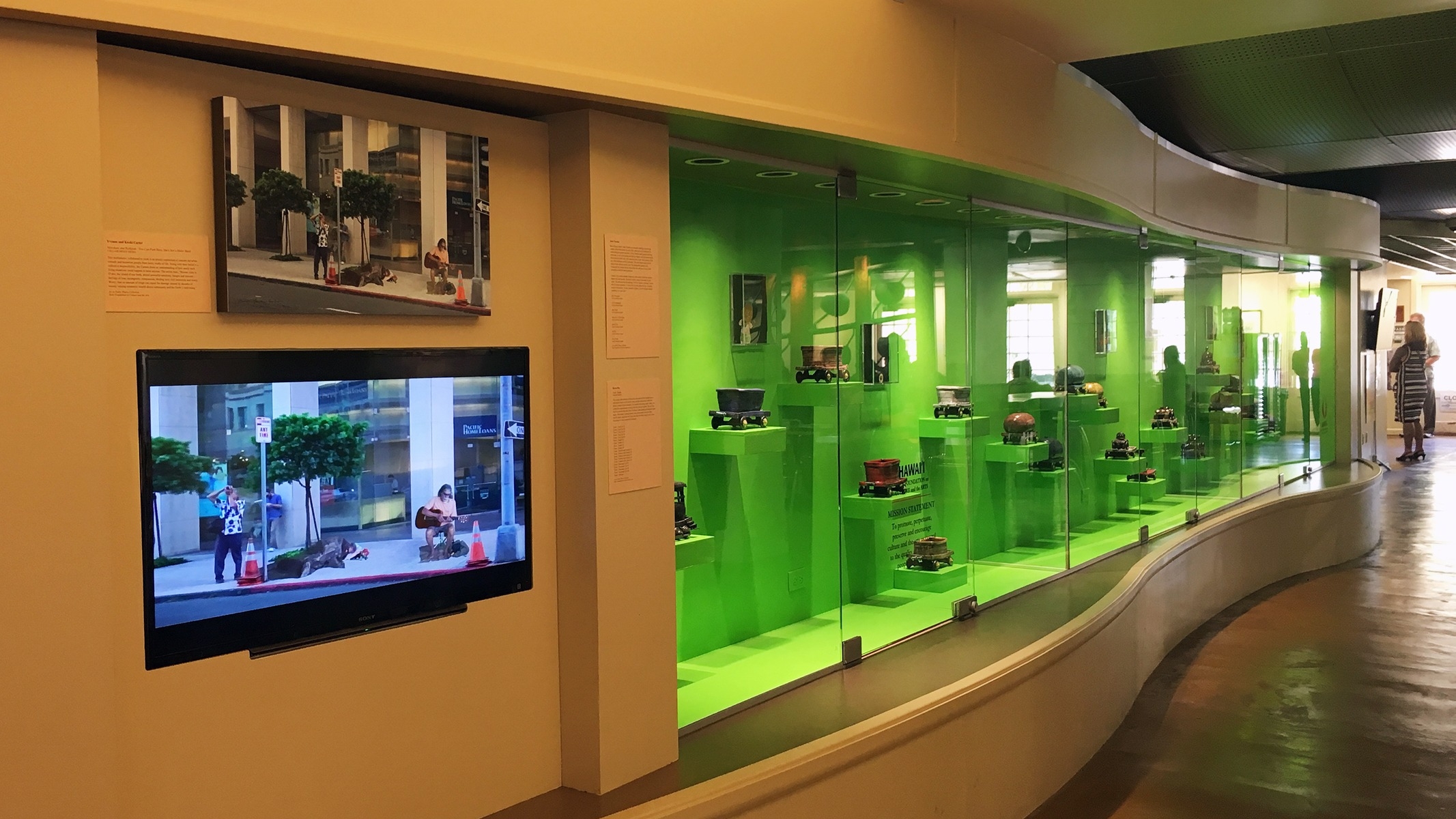 View of the ground floor display case in the No.1 Capitol District Building