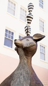 Mr Chickenpants statue