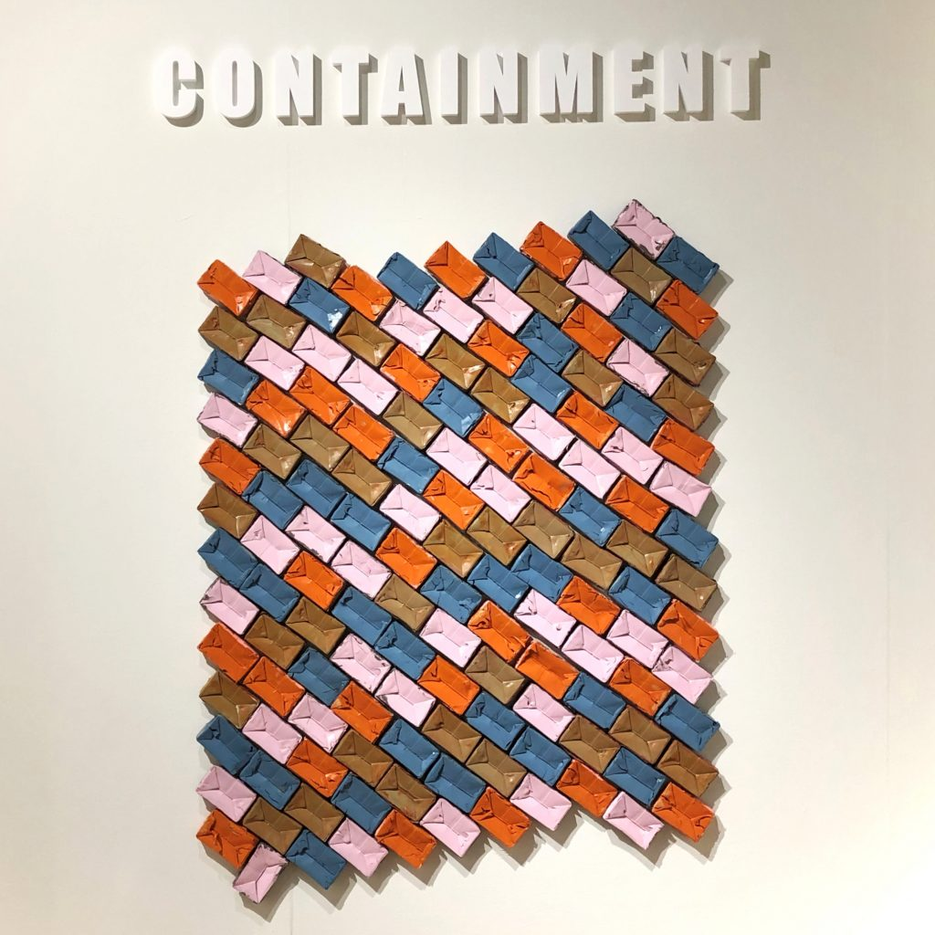 """Entry wall for """"Containment"""" exhibit"""
